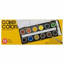 Holbein Solid Watercolor Paint Transparent Cake Color 12 Colors Set C010 Diameter 25 mm