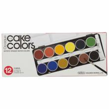 Holbein Solid Watercolor Paint Opaque Cake Color 12 Colors Set C030 30mm Diameter