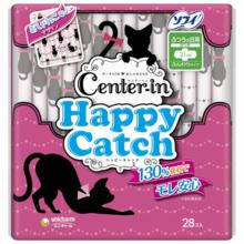 Center in happy catch Normal day use with wings 21 cm 28 sheets [napkin] uni charm