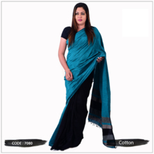 Full Cotton Handloom Saree with Blouse Piece 100% Pure Cotton Hand Woven Product