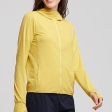 AIRism UV-kuttet mesh parka (lange ermer) XL gul