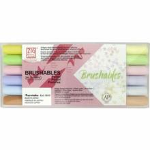 Bamboo Kuretake aqueous pen ZIG MS Brushables Pastel MS-7700 / 6 VPA