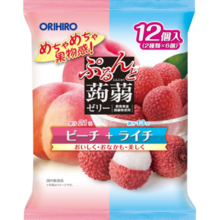 Orihiro Prunyu Purinto strawberry jelly pouch peach lychee 20g × 12