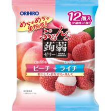 Orihiro Prunyu Purinto jordbær gelé pose fersken lychee 20g × 12
