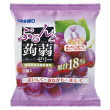 Orihiro Purinto strawberry jelly grape (20g × 6)