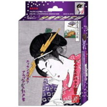 Ukiyoe Series Kayo Line Essence Mask Arbutin Edo Purple 10 Sheets (MC Essence Mask Aloe 10)