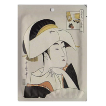 Ukiyo-e series Nippon mask pack smoked ◆ song line <Tomimoto Toyosu> Hyaluronic acid + Edo purple essence mask · 1 sheet (25 g)