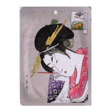 Ukiyo-e Series Nippon Mask Pack Kayo Line <Oshiya Hanfan> Arbutin + Edo Purple Essence Mask-1 Sheet (25 g)