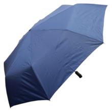 UVION 69cm 大判 耐風傘 ユビオン 安全式 大判 PUネジ式 全3色 折りたたみ傘 自動開閉 ネイビー 8本骨  テフロン加工 7644