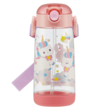 Skater Children's water bottle Clear bottle with straw Unicorn 480ml PDSH5 * Up to 2 per person