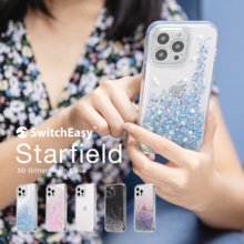 SwitchEasy StarField iPhone13Pro Max Case Glitter Glitter Lame Star Cute Transparent Smartphone Case Star Pattern